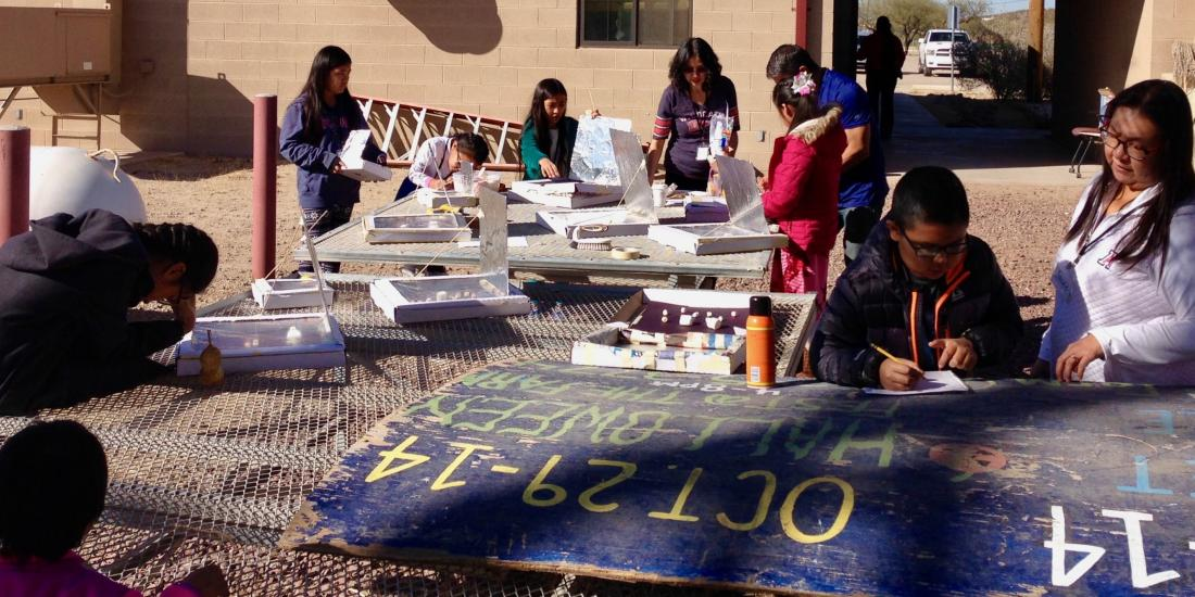 San Xavier 4-H Club building and cooking with Solar Ovens January 27, 2018